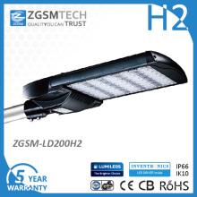 TUV aprobó la iluminación de la calle LED de 200W con oscurecimiento 0-10VDC