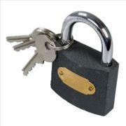 Candado de hierro con llaves