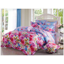 2014 neu luxuriöses, weiches, florales, kundenspezifisches Design, 100% Baumwolle, reaktives, bedrucktes Bett, Bettdecke, Bettdecke