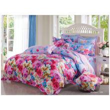 2014 новый роскошный мягкий цветочный нестандартный дизайн 100% хлопок реактивной печати кровать набор пододеяльник