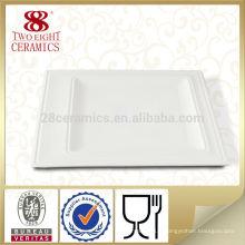 Assiettes à dîner carrées en céramique blanche Assiette à dîner en porcelaine