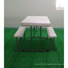 HDPE moldeo por soplado plástico plegable cerveza al aire libre mesa de banco