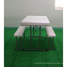 HDPE Blow Molding Plastic Folding Beer Outdoor Table Bench