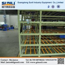 Dongguan fabricantes venta caliente bandejas cartón gravedad flujo almacenamiento estanterías de almacén