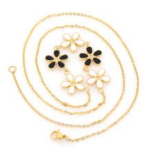 Collier de charmes de barre d'or, chaînes de matériel de sac à main de corde de lunettes