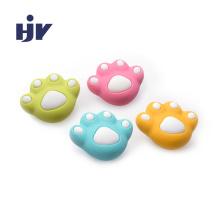 Puxador de cômoda de crianças com padrão animal manipula botão colorido decorativo