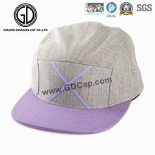 Sombrero precioso hermoso del diseño del sombrero de 2016 encapuchados del casquillo de Snapback de color caqui morado