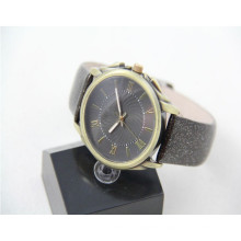Fashion lady unisex movement china polish watch for leather strap