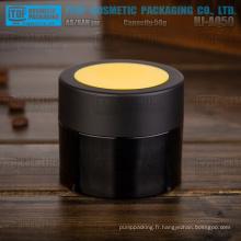 HJ-AQ50 50g couleur personnalisable de haute qualité en gros pot de crème en plastique emballage cosmétique