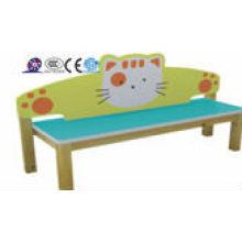 Jardim de infância crianças cartoon sofá de madeira