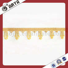 Small And Short Polyster Beaded Trims For Curtain Decorative Textile Fringe Supplier