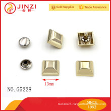 Customized handbags accessories studs and eyelets on sale