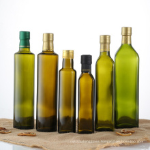 Cylinder wholesale 250ml 500ml 750ml green brown glass bottle for olive oil in stock