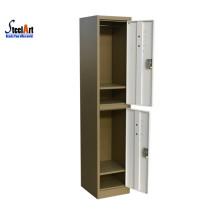 2018 hot sale cheaper price metal two door locker made in luoyang