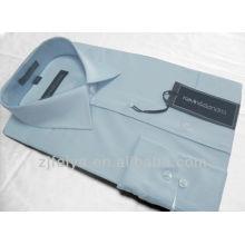 Los mejores hombres del algodón de la calidad no del hierro 100% visten la manga larga de la camisa del negocio Stock o hacen para hacer un pedido FYST05-L