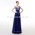 2018 hot sell Royal blue chiffon evening dress2018 aliexpress Amazon hot sell hign neck dress long style evening dress for birde
