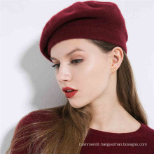 ladies french style cashmere beanie plain knitted beret
