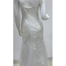 Tule Branco Bordado Lace Wedding Gown Beads Lantejoula