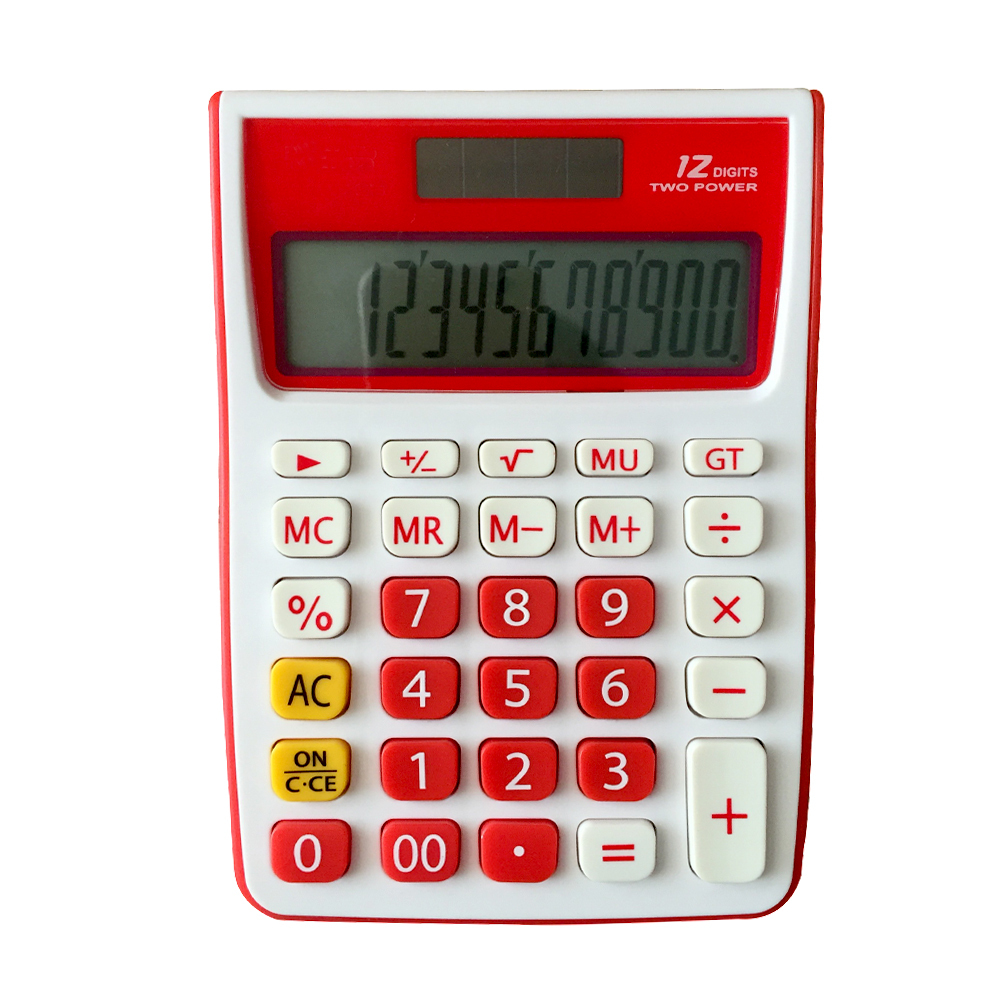 12 dígitos exibidos Dual Power Office Desktop Calculator