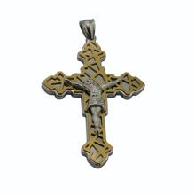 Alibaba atacado, novo produto cruz pingente com Jesus, pingente sagrado, jóias de ouro
