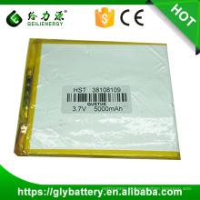 produtos da china 3.7 v 6000 mah bateria de polímero de lítio
