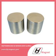 China cilindro ímã de NdFeB fabricante amostra grátis N50 neodímio ímã permanente
