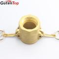 GutenTop Suministro de fábrica de alta calidad latón hembra thread camlock acoplamiento rápido