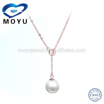 Euro New Fashion Design silver Pearl Jewelry Gold Pendant wholesale price support Mix Order