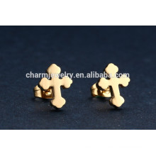 Chinese Wholesale Cross Stainless Steel Stud Earrings for Unisex ZZE016
