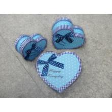 Caja del corazón del chocolate de las tarjetas del día de San Valentín de la manera