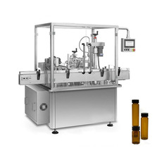 Automatic 5ml 10ml 30ml hemp oil filling machine 30ml serum filling machine bottle dropper filling capping labeling machine