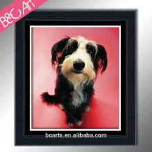 Oil painting for kids room lovely dog photo print modern animal canvas picture
