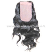 """Center Part Human Hair Silk Base Closure, Measures 3*5"""",Free and 3 Parting Available, OEM Accepted"""