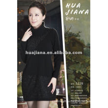 женская водолазка 100% кашемировый свитер платье