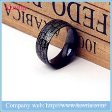 Anéis de jóias Steampunk anel de aço preto titânio para homens