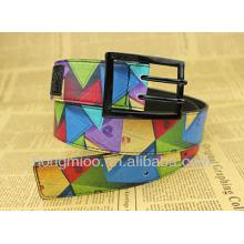China ZhengJiang print pu leather belt trading company