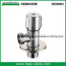 Personalizado de pulido de calidad latón válvula de ángulo (AV3026)