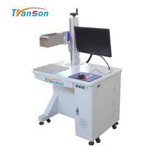 Máquina de marcação a laser de fibra com foco dinâmico no ambiente de trabalho 3D