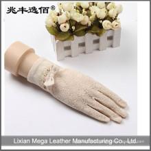 Girls Lace & Baumwolle UV Schutz Sun Block Brauthandschuhe zum Fahren von Handschuhen