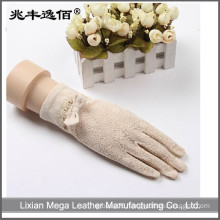 Girls lace&cotton UV Protection Sun Block Bridal gloves for driving gloves
