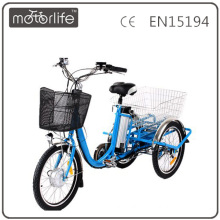 MOTORLIFE/OEM brand EN15194 36v 250w three wheel bicycle for adults, 3 wheel motorized bike
