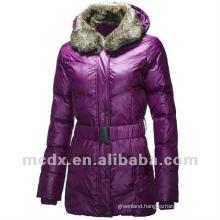 fashion purple long coat for ladies