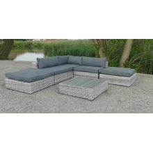 Garden Wicker Outdoor Patio Rattan Lounge Sectional Sofa Set