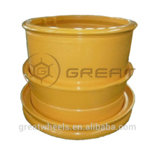 Strong quality 3-piece tubeless rim for engineering vehicle