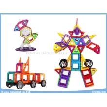 108PCS with Wheels Magnetic Puzzle Toys Wisdom Educational Toys for Children