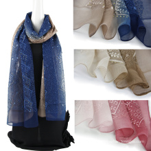 100% шелковый шарф с блестками
