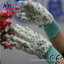 NMSAFETY senhora jersey pvc pontos luvas de segurança de proteção de mão fabricante