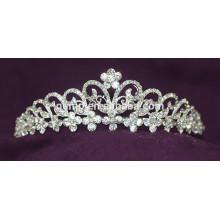 Tiara nupcial cristalina de la boda del Rhinestone de la corona de la alta calidad