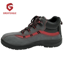 Suede Leather PU Steel Safety Shoes