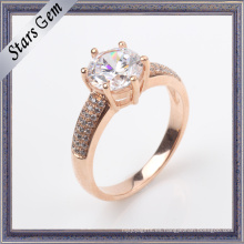 Joyería de plata modificada para requisitos particulares del anillo de Rose del diseño 925